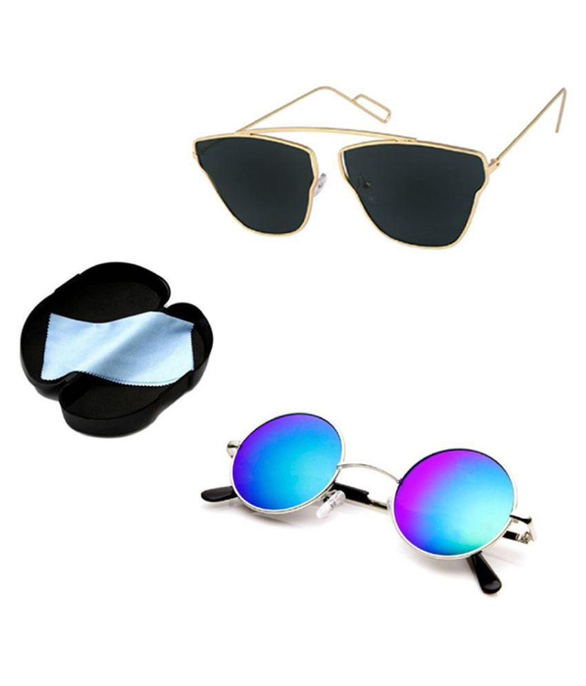 Lee Topper Black Aviator Sunglasses ( SGT-018 )