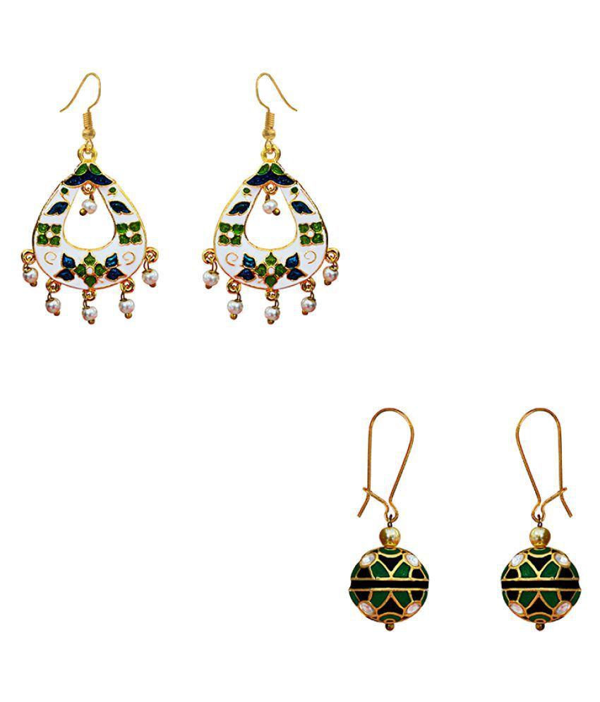 Elegant Meenakari earring combo set-439