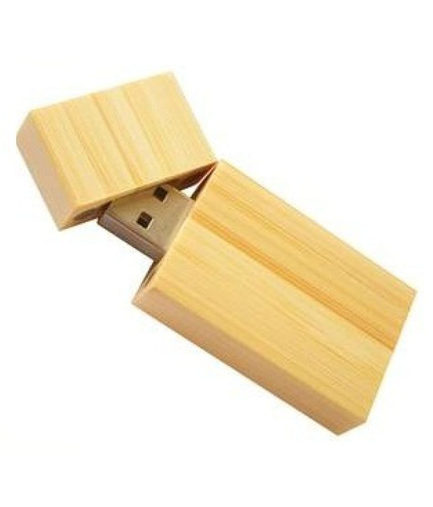 nexShop Unique Wooden U-Disk with magnetic lock mechanism 4GB USB 2.0 Utility Pendrive Pack of 1