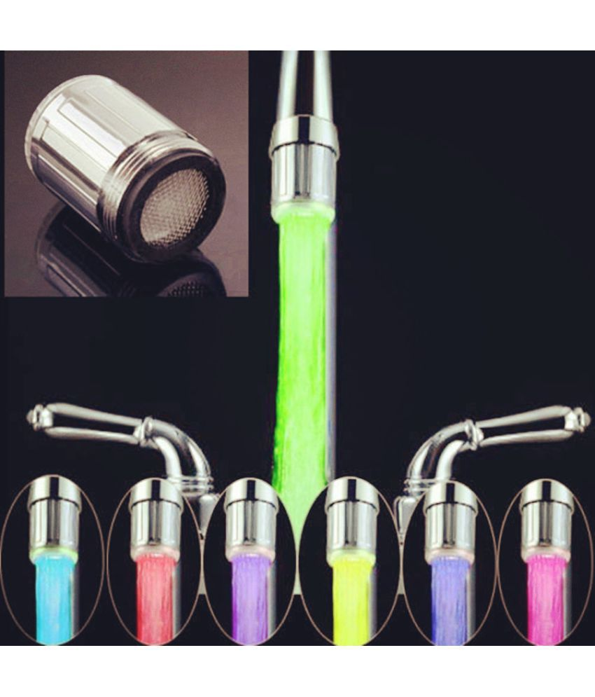 WowObjects Hot Sale LED Water Faucet Light 7 Colors Changing Glow ...
