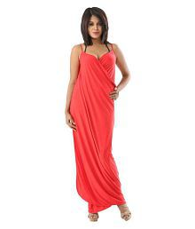 Fascinating Lingerie Synthetic Red Sarongs