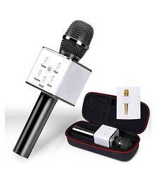 Stark Bluetooth Karaoke Singing Q7 Black Mic Speaker Wireless Microphone