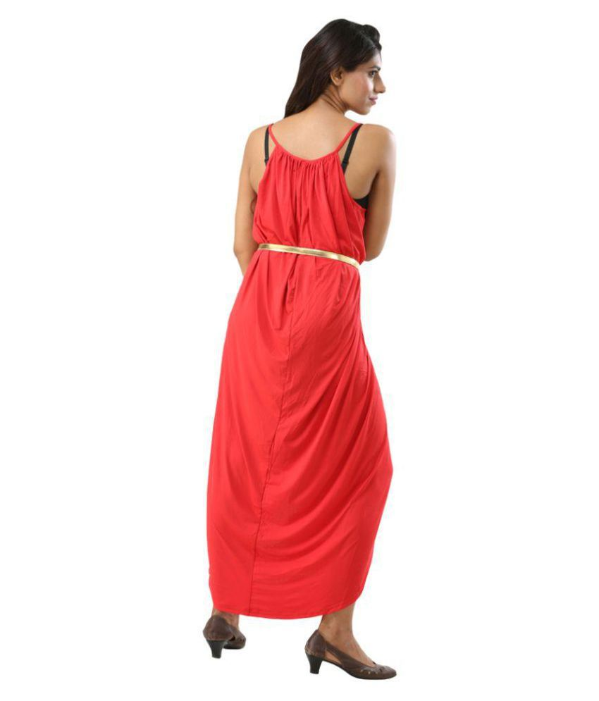 Fascinating Lingerie Synthetic Red Beach Dresses