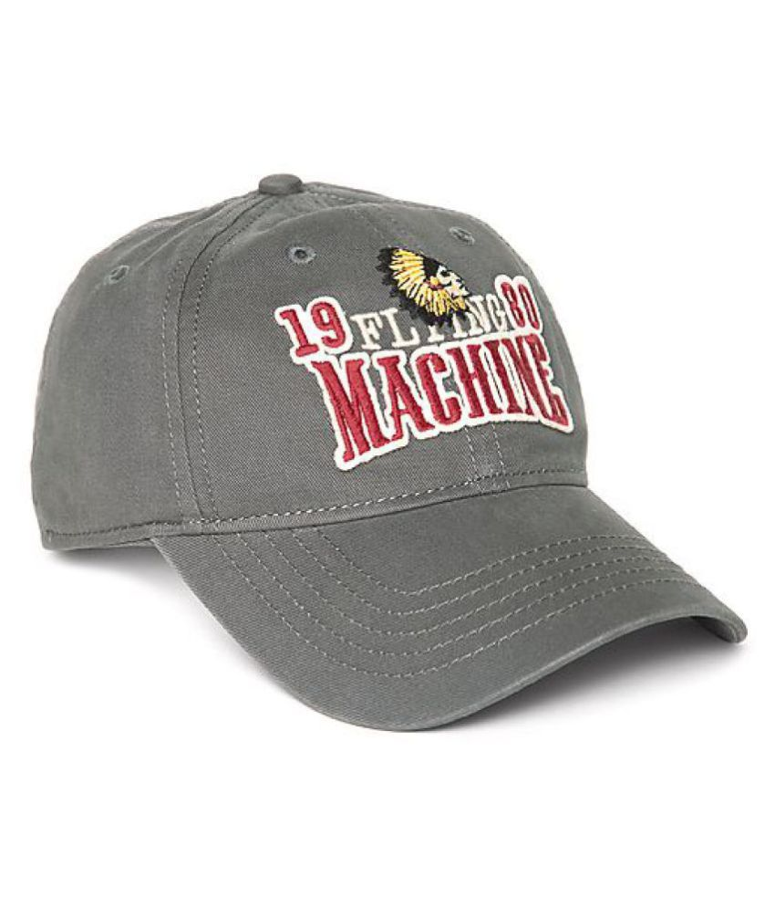 Flying Machine Gray Cotton Caps