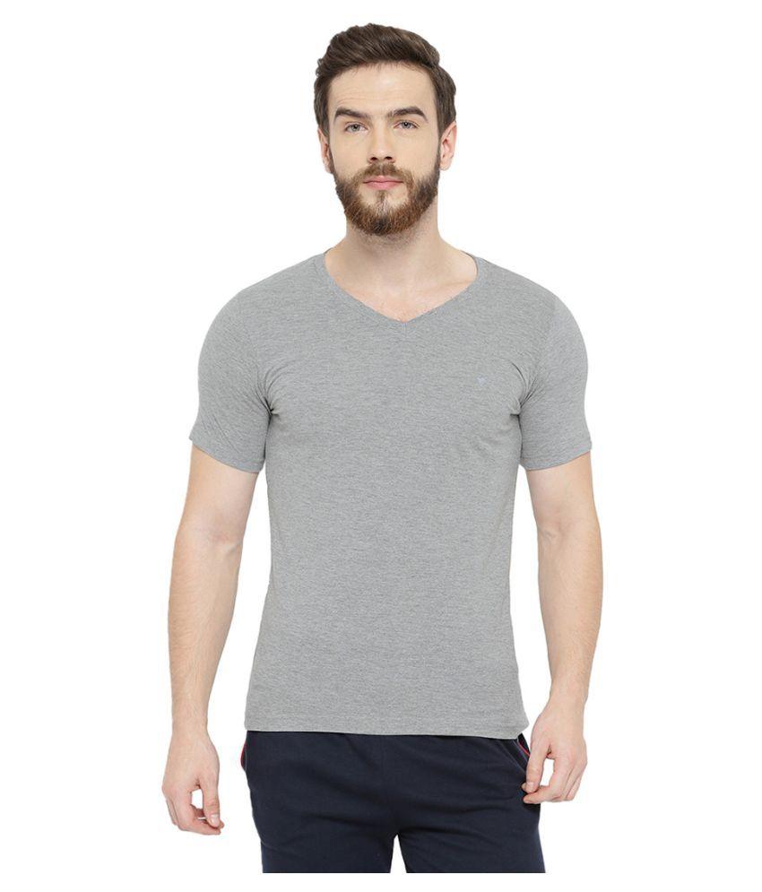 Neva Grey V-Neck T-Shirt