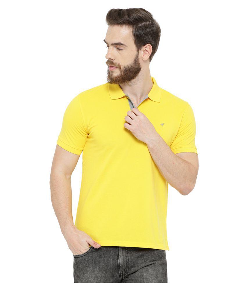 Neva Yellow High Neck T-Shirt
