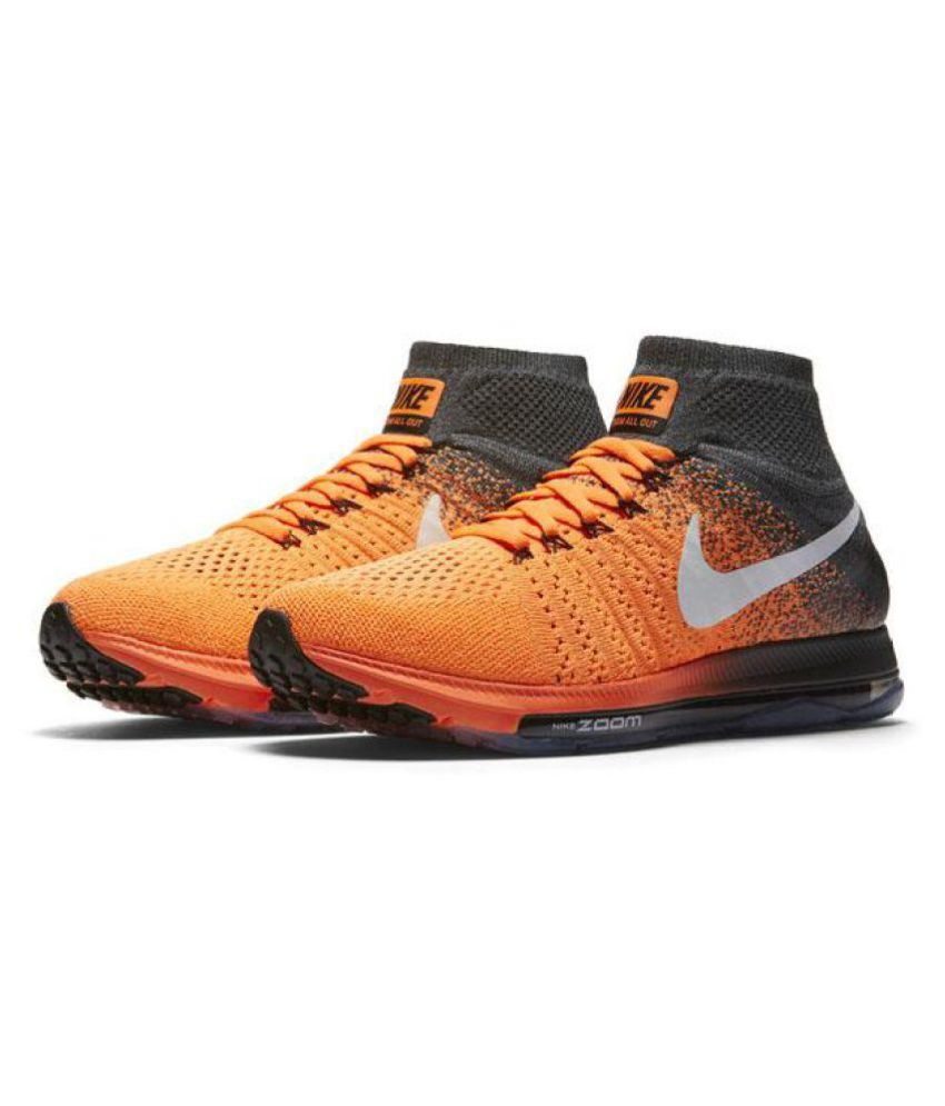 ... Nike Zoom All Out Flyknit Racer Orange Running Shoes