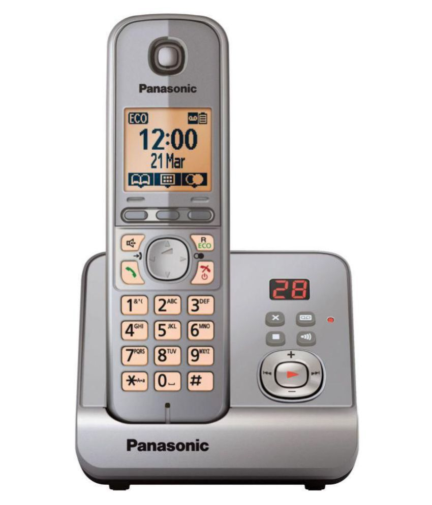 Buy Panasonic 6721 Cordless Landline Phone ( Silver ...