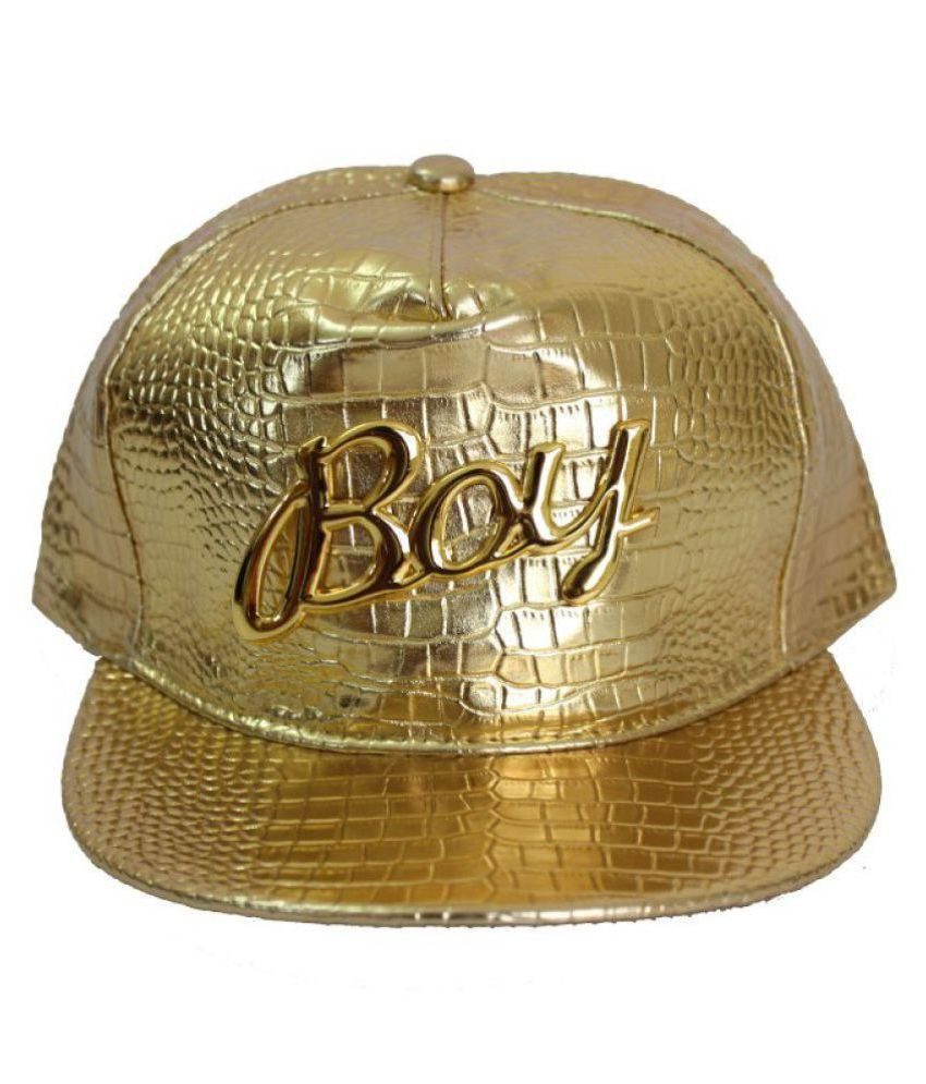 TakeInCart Gold Plain Polyester Caps