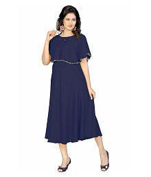 REYANSH INTERNATIONAL Rayon Blue Dresses