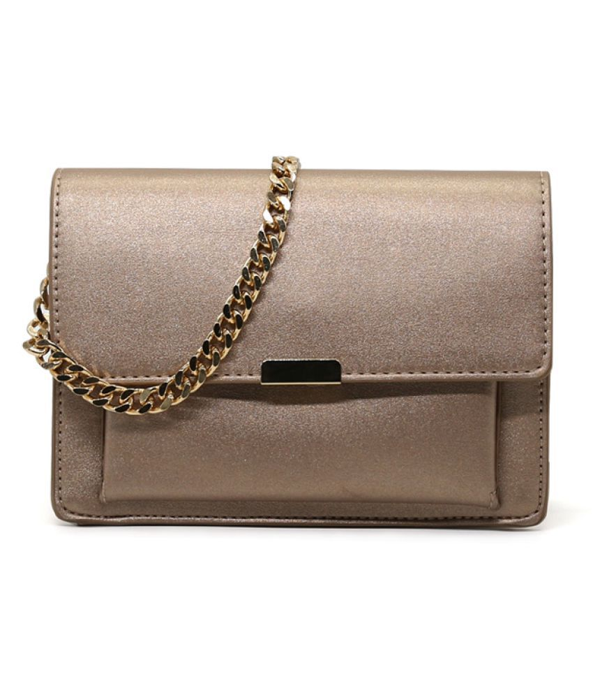 London Rag GOLD P.U. Sling Bag