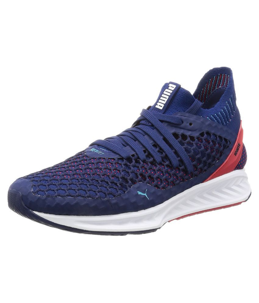 a504a41d1ff Puma IGNITE NETFIT MEN S Blue Running Shoes - Buy Puma IGNITE NETFIT MEN S Blue  Running Shoes Online at Best Prices in India on Snapdeal