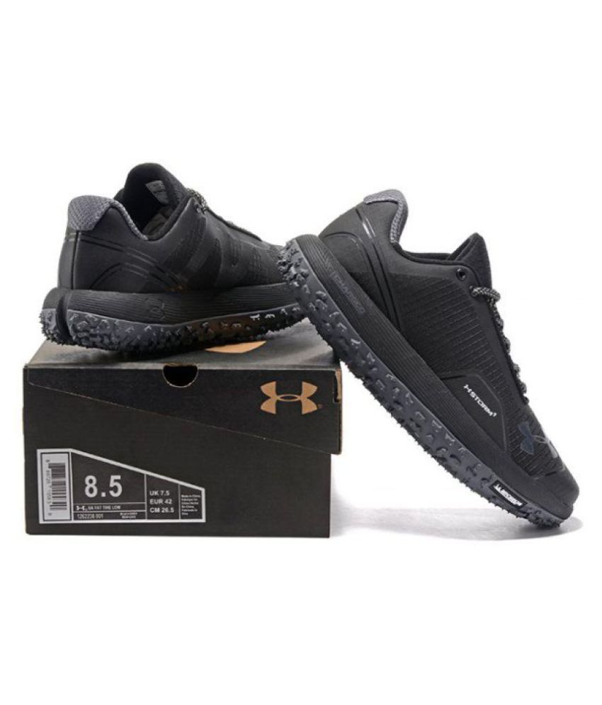 timeless design 2bc4a 34e90 Under Armour Imported Fat Tire Black Running Shoes