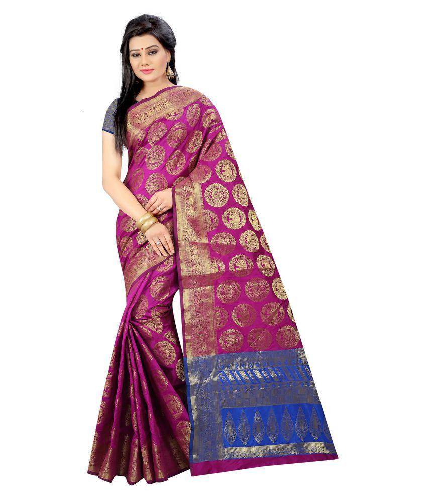 Saree Museum Pink Banarasi Silk Saree
