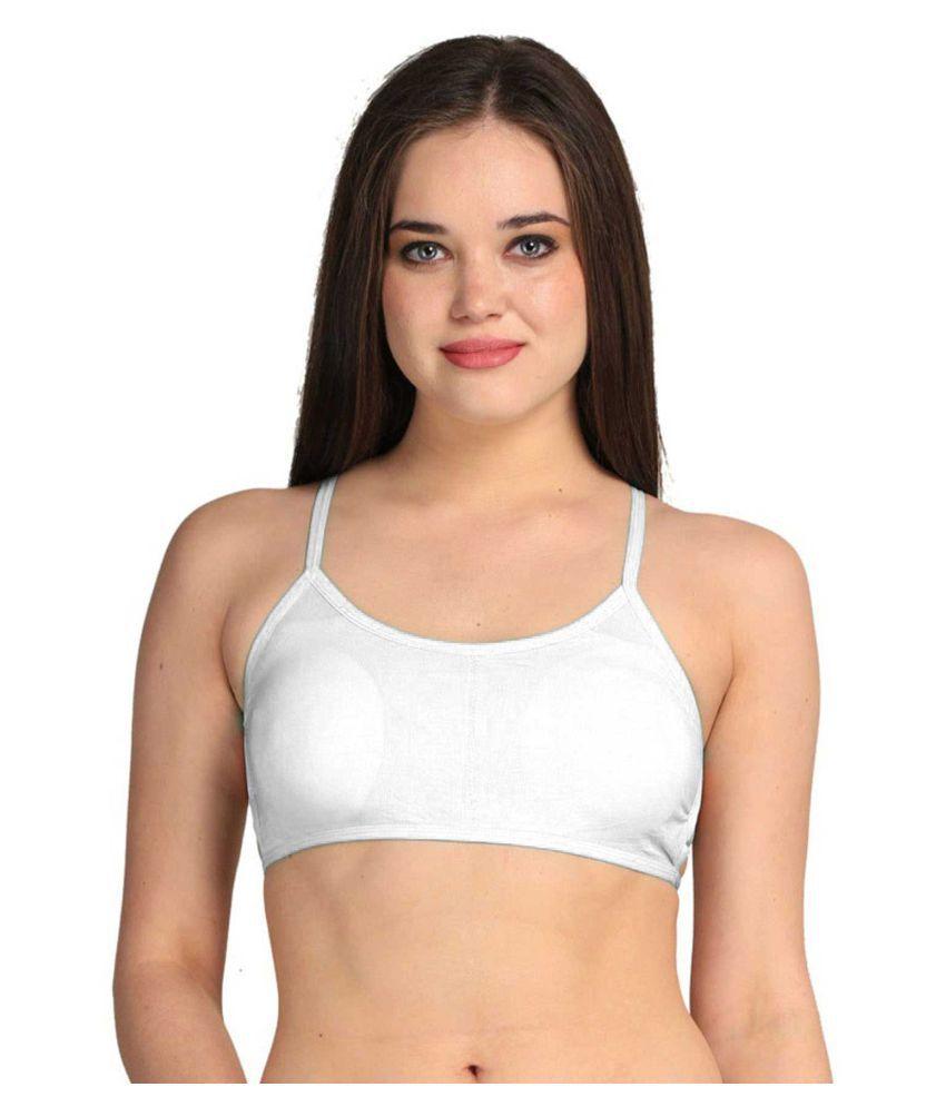 KAJAL ENTERPRISE Cotton Lycra T-Shirt Bra - White