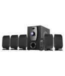 Intex 650 5.1 Channel compatible with USB/FM/BT/AUX/DVD 2.0 Speakers - Black