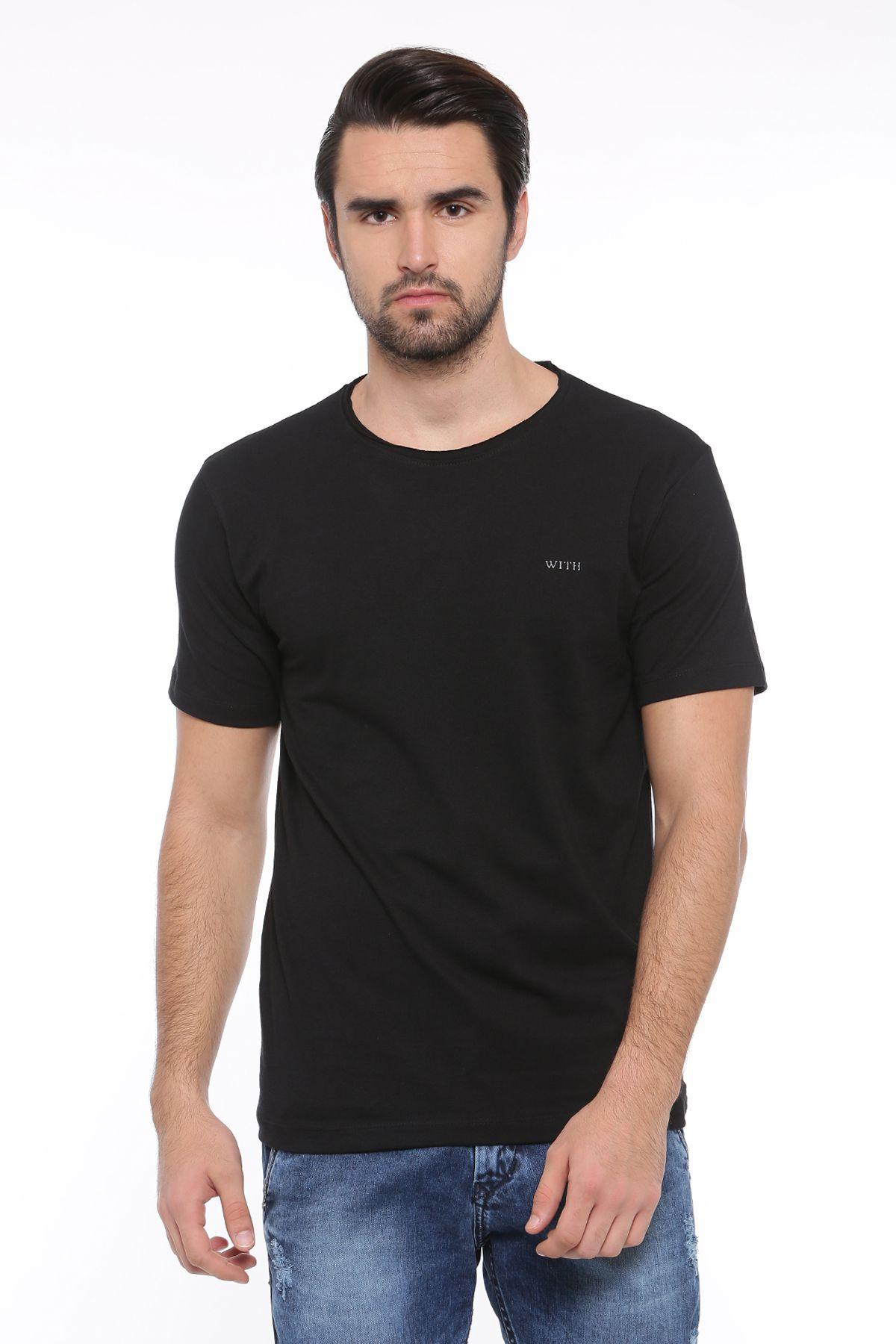 SHOWOFF Black Round T-Shirt