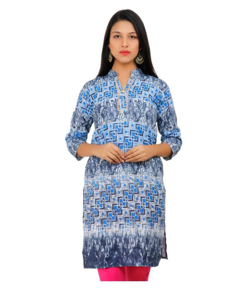 Brentwood Multicoloured Cotton A-line Kurti