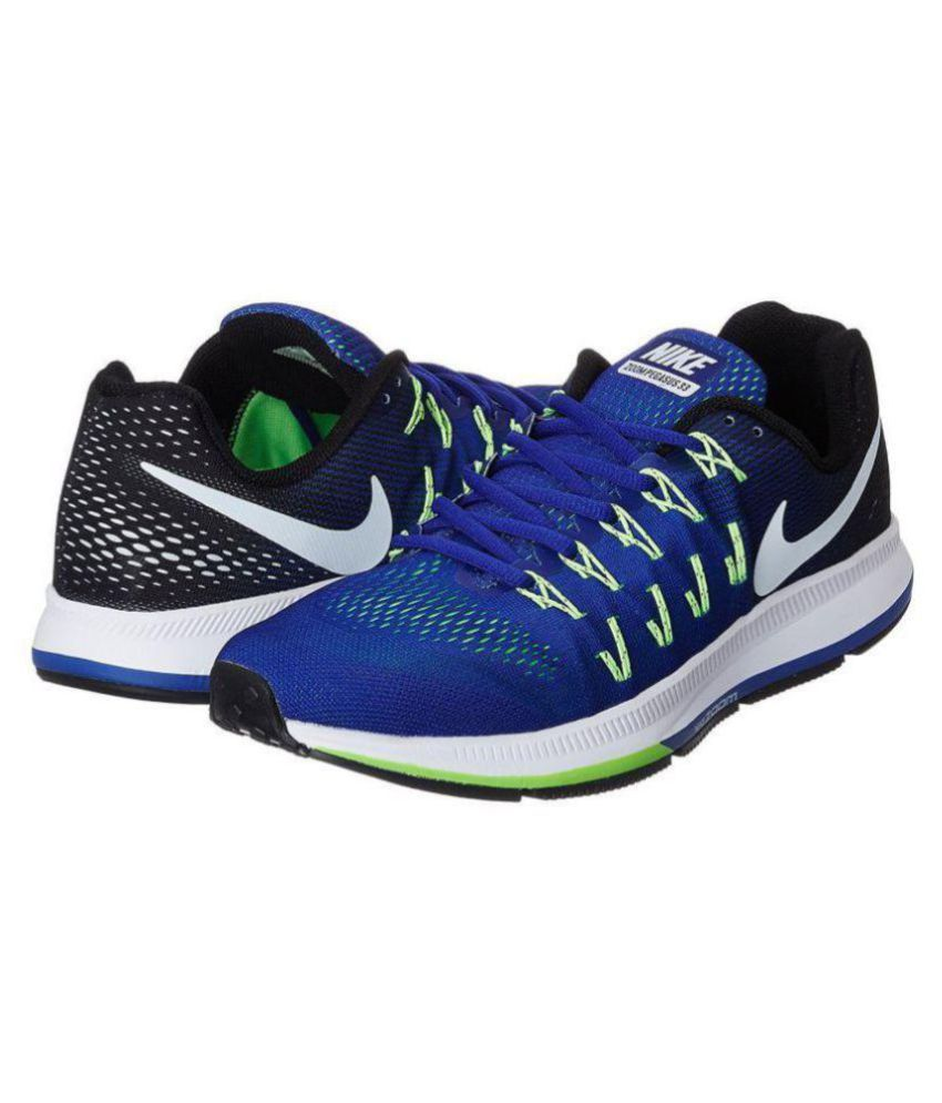 Nike Zoom Pegasus 33 Blue Running Shoes - Buy Nike Zoom Pegasus 33 ... bd2fb54028