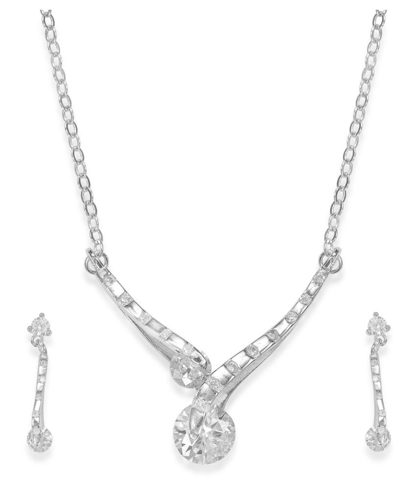 Taraash 92.5 Silver Necklace Set