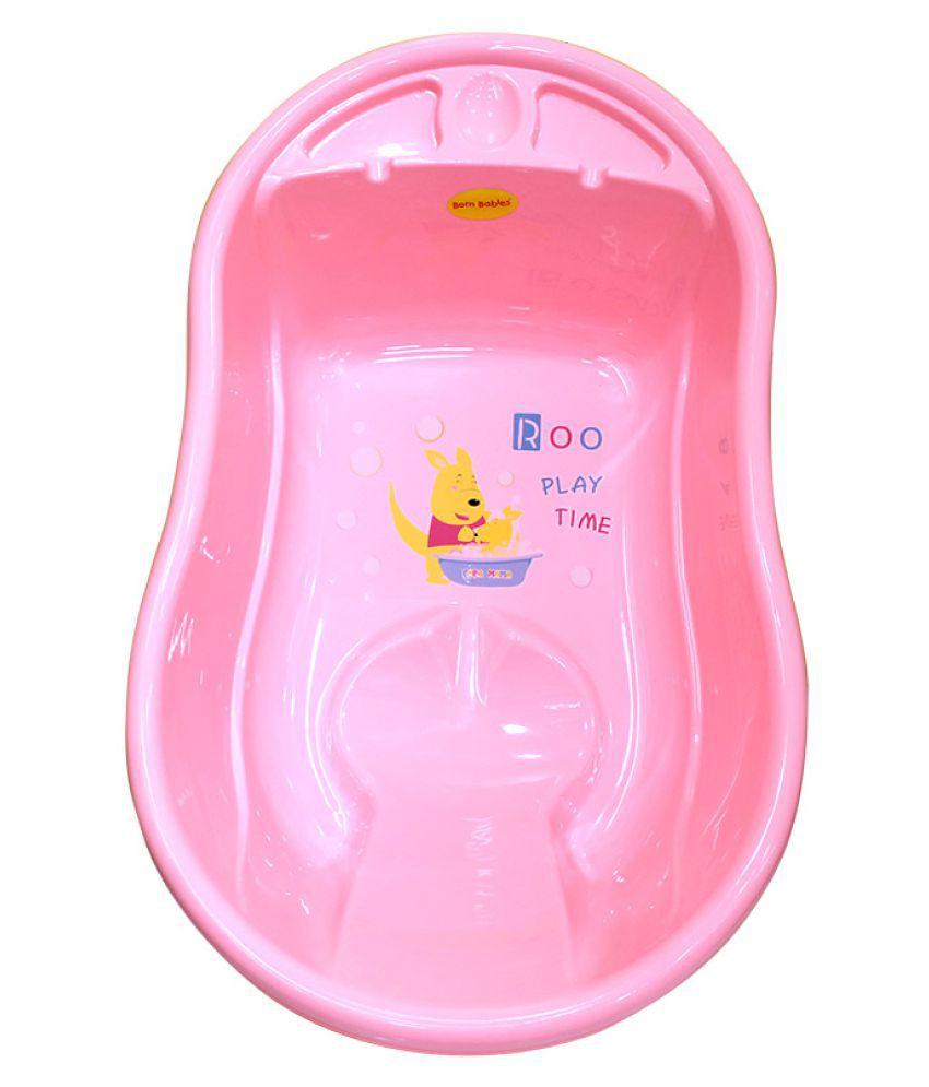 Born Babies Pink Plastic Baby Bath Tub: Buy Born Babies Pink Plastic ...