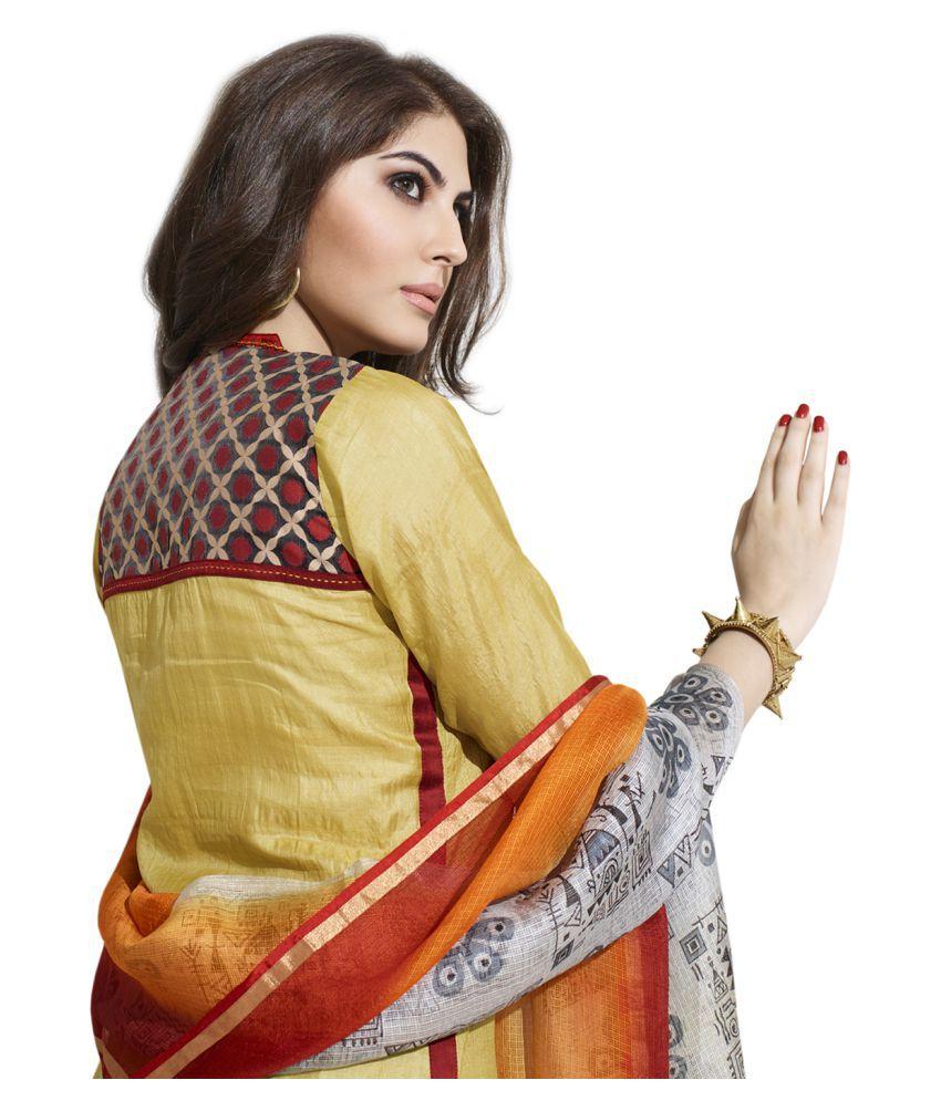 Payal Yellow Silk Straight Stitched Suit