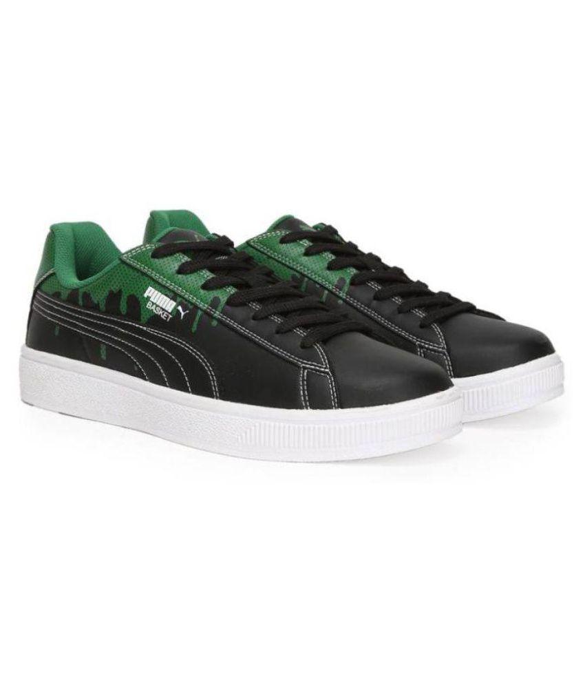 Puma Basket City DP Sneakers Black Casual Shoes