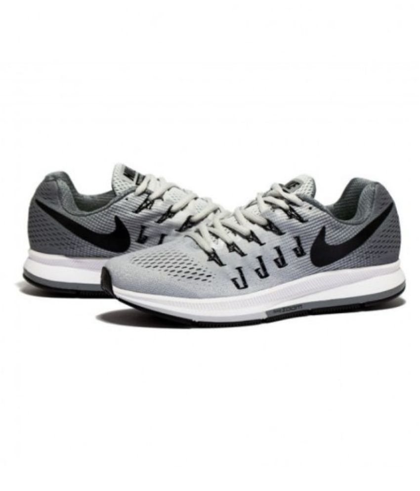 on sale 55be3 1c860 ... Nike Zoom Pegasus 33 Gray Running Shoes ...