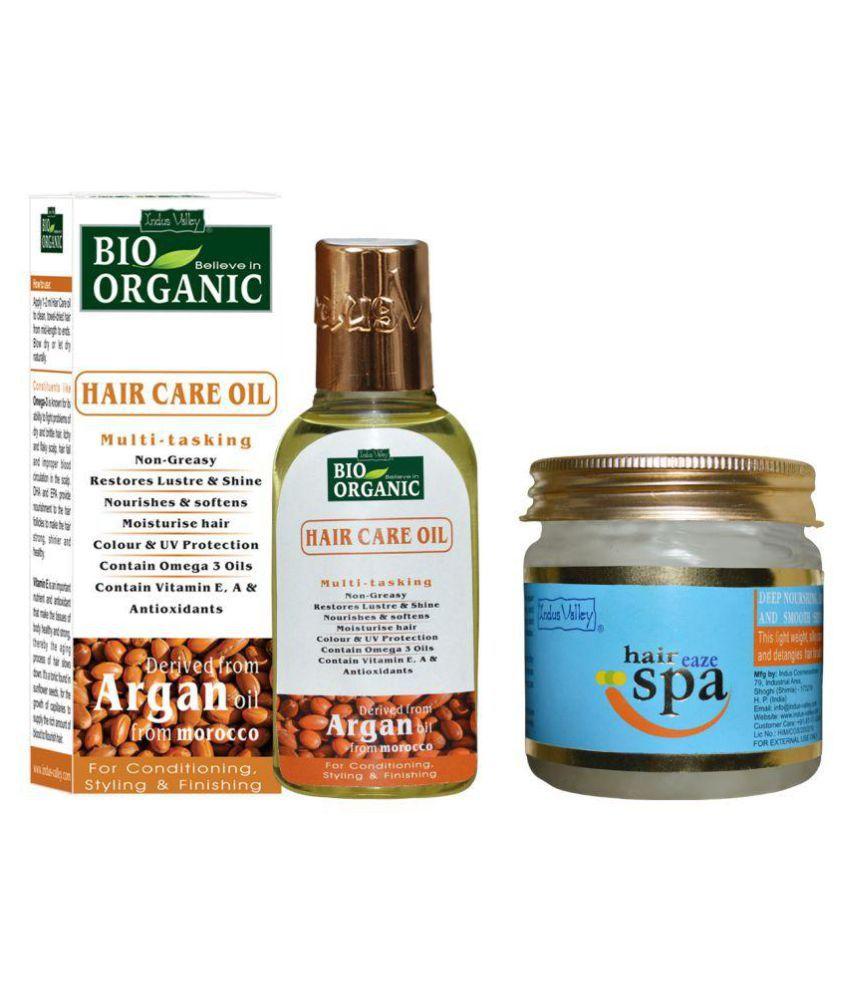 Indus Valley Hair Eaze Spa & Moroccon Argan Oil For Smoothen & Shiny Hairs