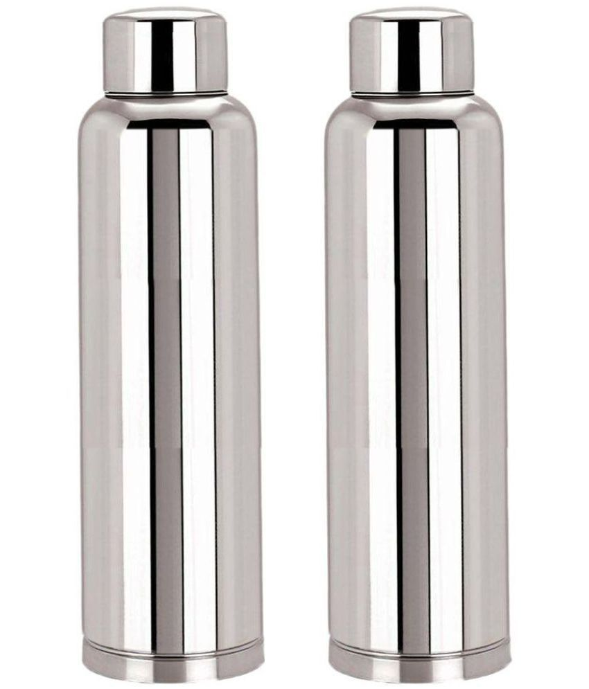 Kc 1000 Ml Stainless Steel Fridge Water Bottles One Get Free