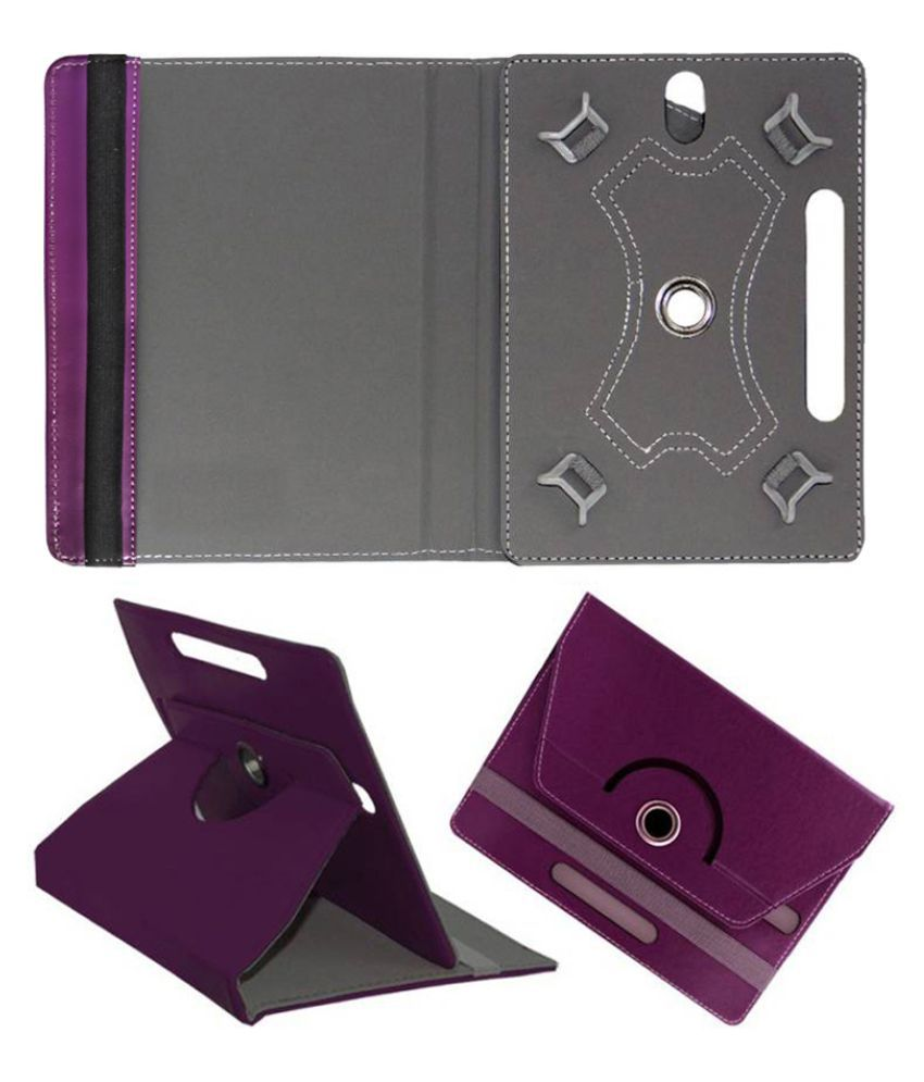 Micromax Canvas Tab P681 Flip Cover By Fastway Purple