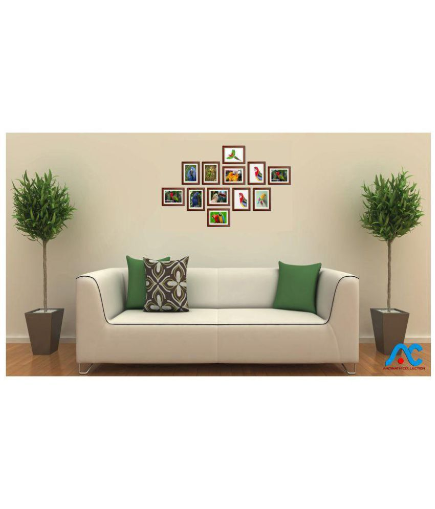 Aadinath Collection Wood Wall Hanging Brown Photo Frame Sets - Pack ...