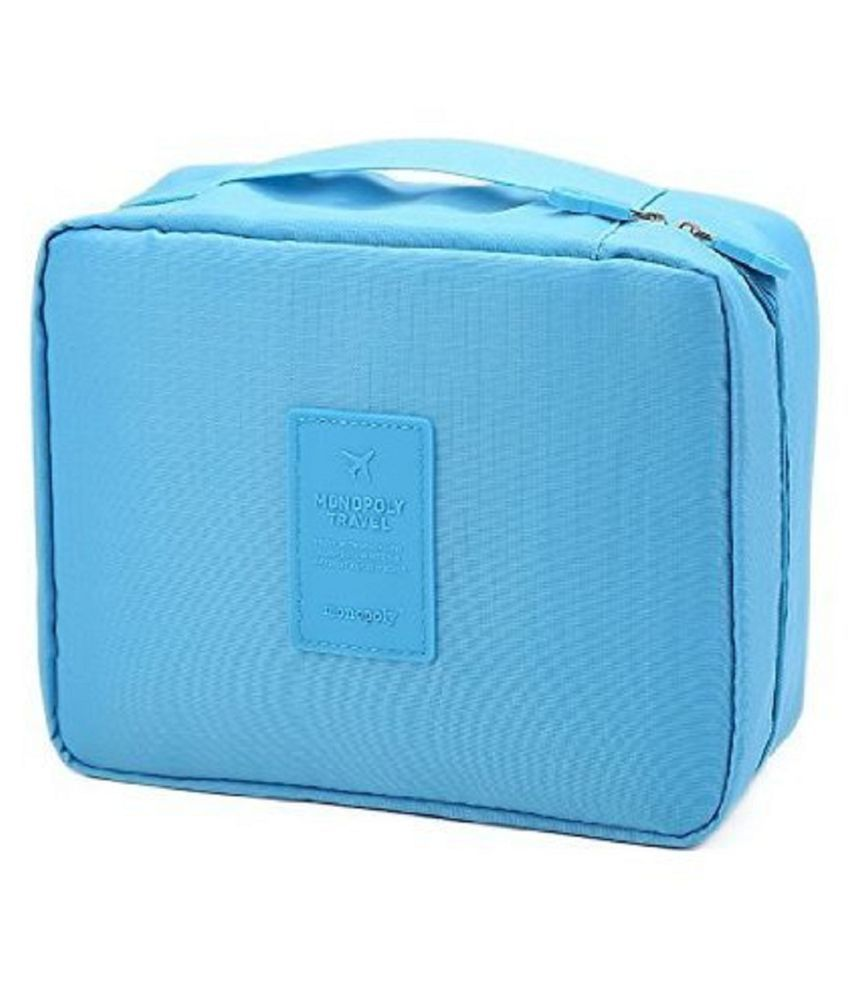 Everbuy Blue Multi-Pouch Cosmetic Makeup Toiletry Bag