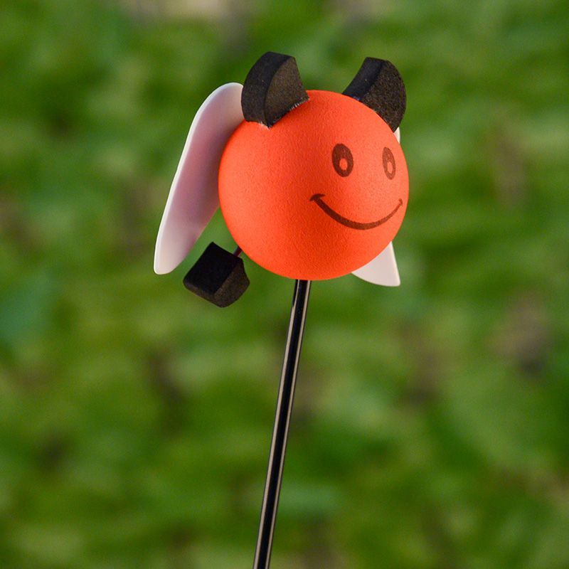 WowObjects 1 Pcs Angel Car Aerial Toppers Smiley Happy Face