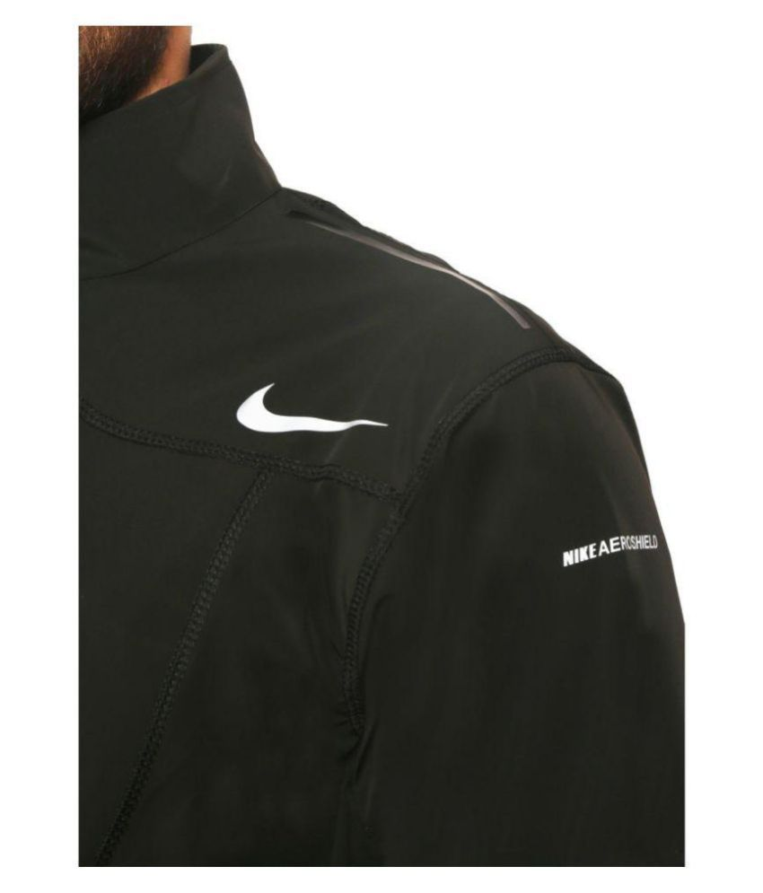 Nike Black Polyester Terry Jacket Buy Nike Black Polyester Terry