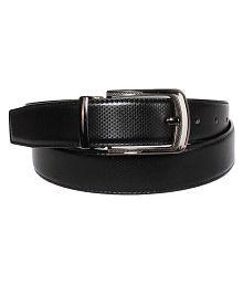 Woodland Scenics Black Faux Leather Casual Belt