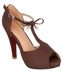 sherrif shoes Brown Stiletto Heels