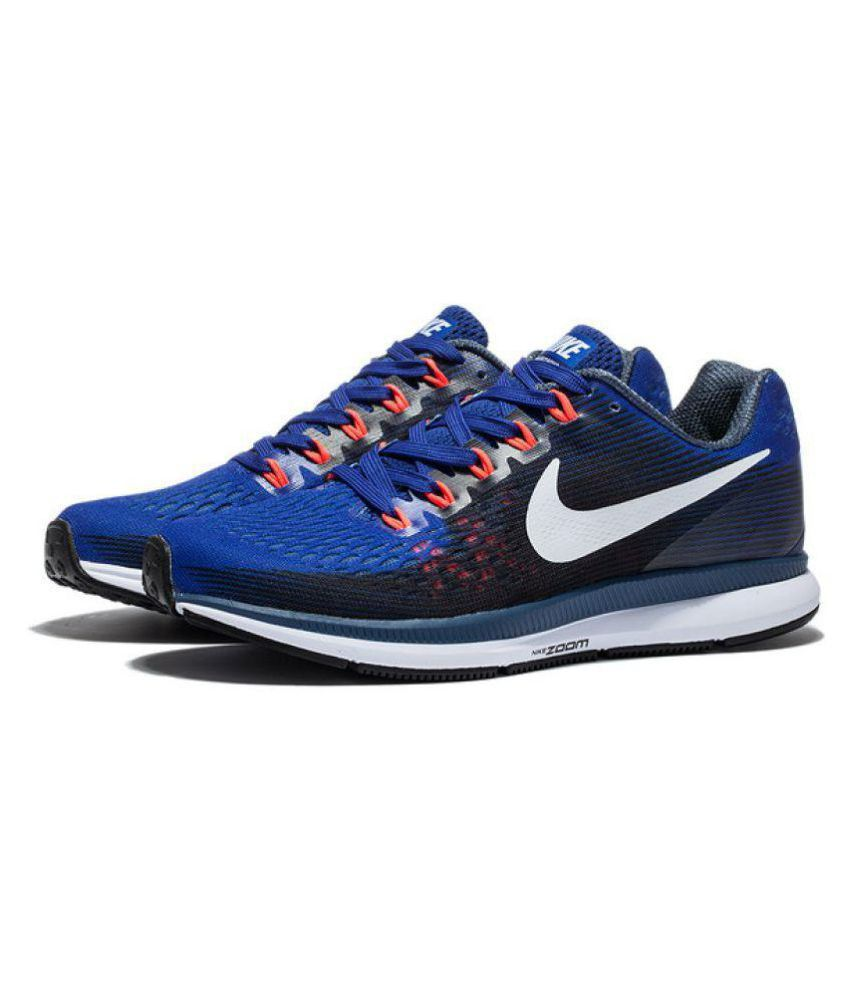 5c41a8afa4c4 Nike Zoom Pegasus 34 Blue Running Shoes - Buy Nike Zoom Pegasus 34 Blue  Running Shoes Online at Best Prices in India on Snapdeal