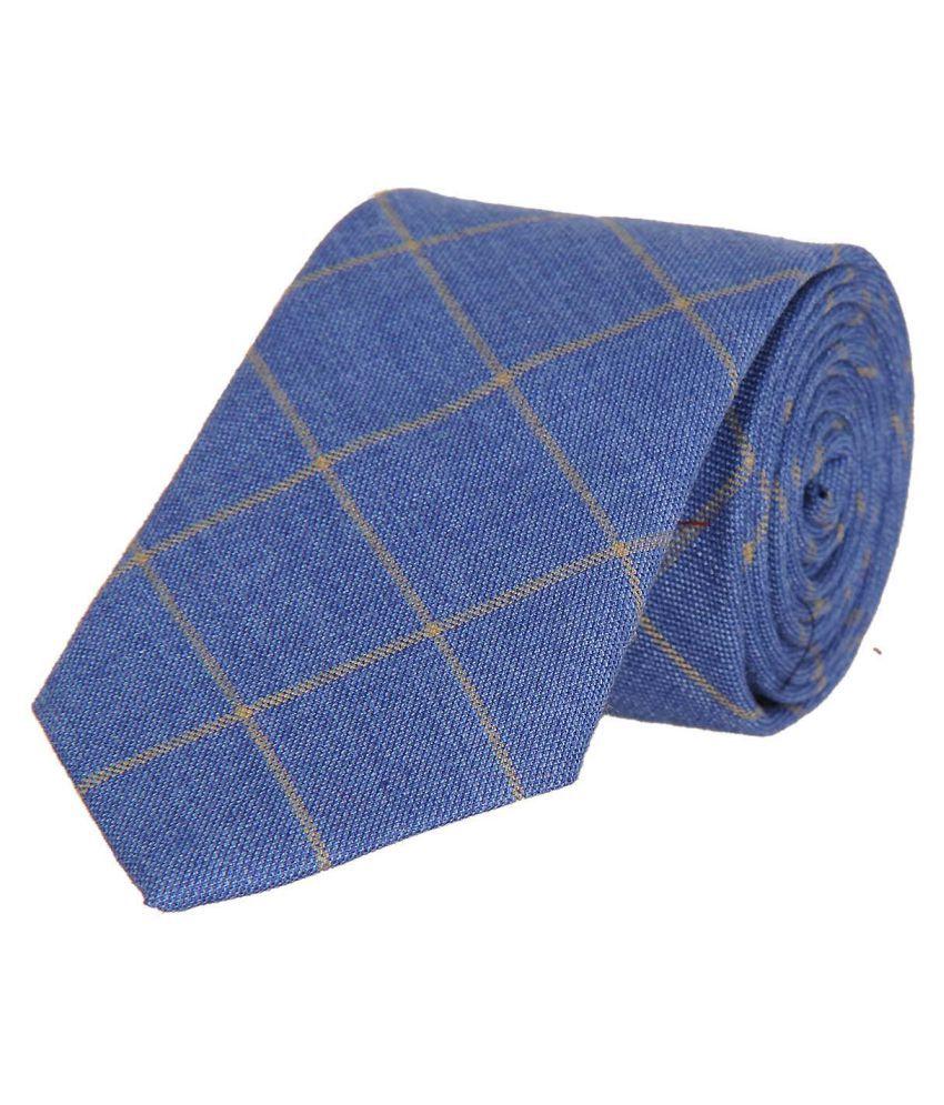 Tiekart Blue Checks Linen Necktie