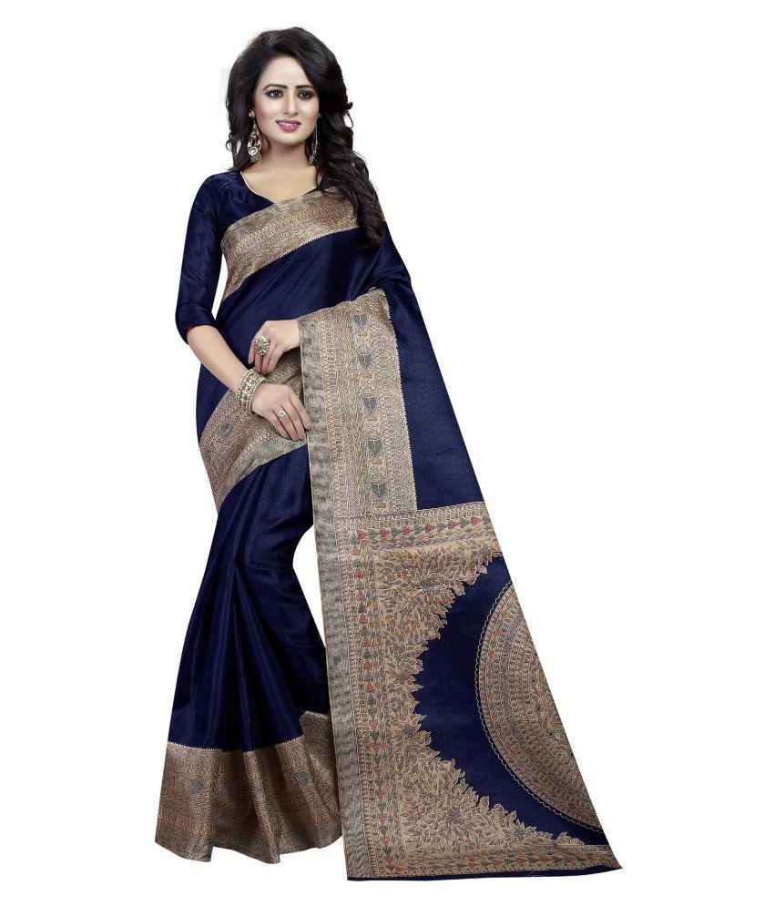 mavani Blue Cotton Silk Saree