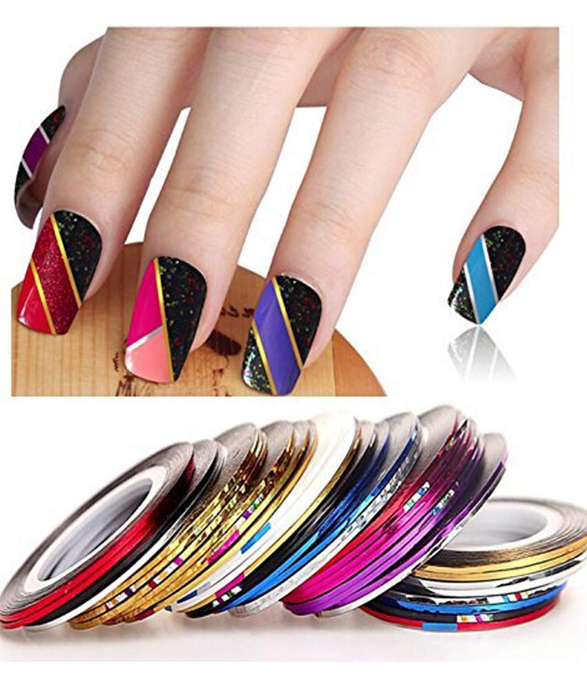 Top Nail Art Adhesive Multi Color Stickers 20 Pieces Buy Top Nail