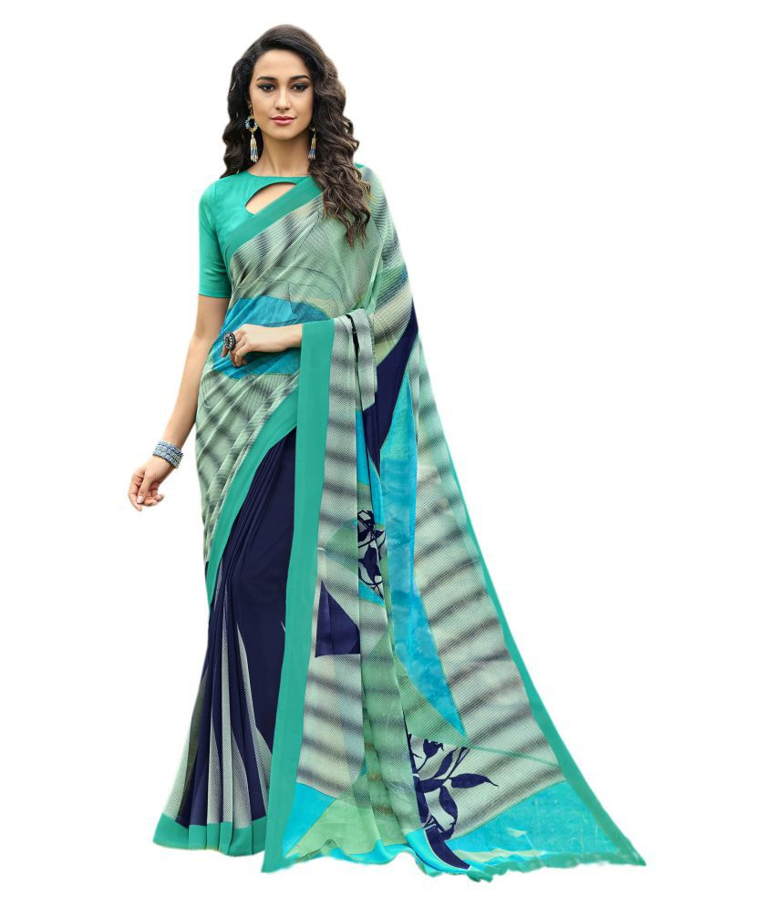 Vastrang Multicoloured Georgette Saree