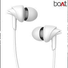 boAt Bassheads 100 In Ear Wired Earphones With Mic (White) Handsfree