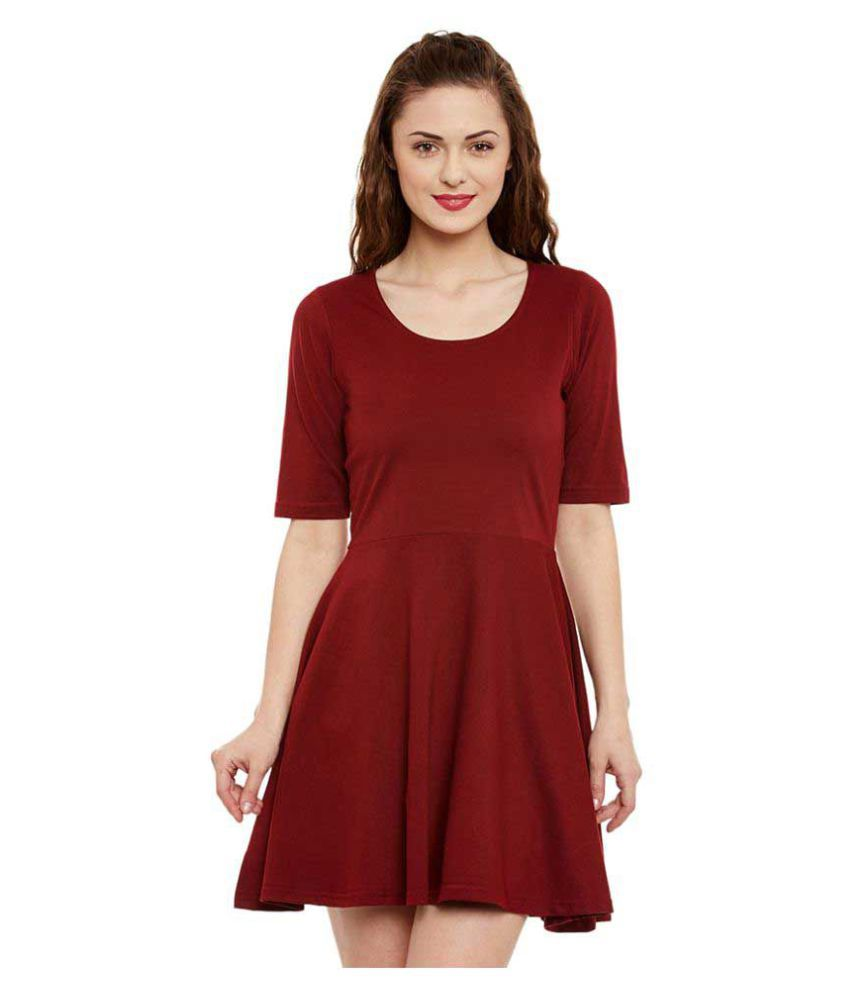 Miss Chase Cotton Maroon Dresses - Buy Miss Chase Cotton Maroon Dresses  Online at Best Prices in India on Snapdeal 114eb28fa