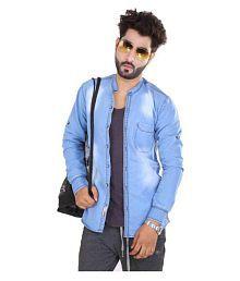 Men's Shirts Blue Slim Fit Shirt