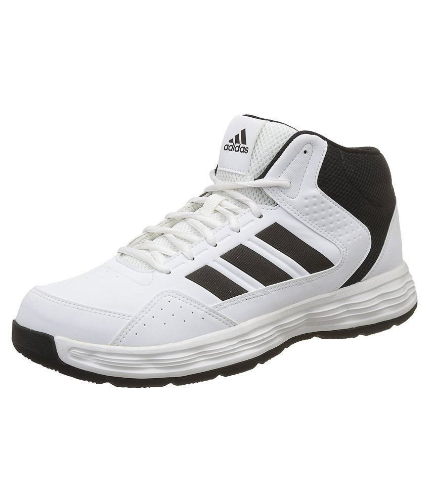 3fe09429f102 Adidas ADI RIB M White Basketball Shoes - Buy Adidas ADI RIB M White  Basketball Shoes Online at Best Prices in India on Snapdeal