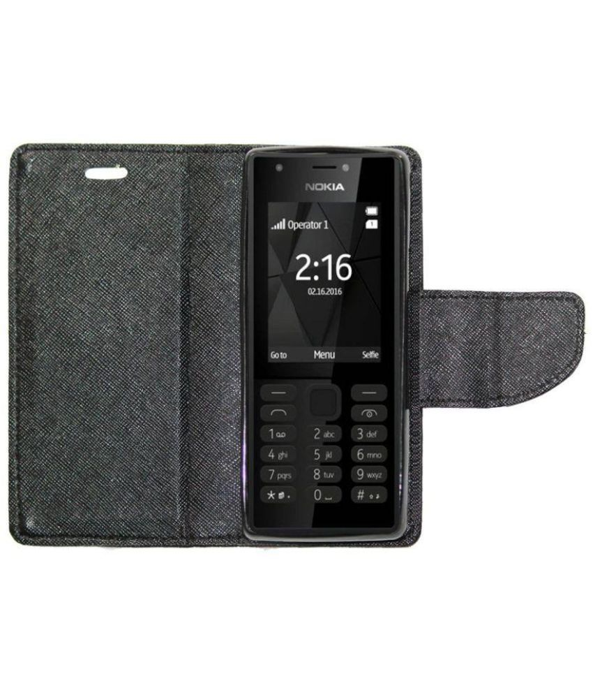 competitive price 4fa16 589d4 Nokia 216 Flip Cover by Gizmofreaks - Black