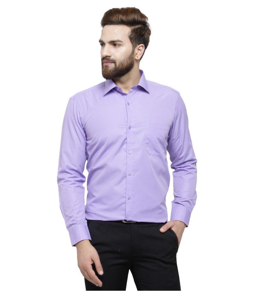 RG Designers Purple Slim Fit Formal Shirt