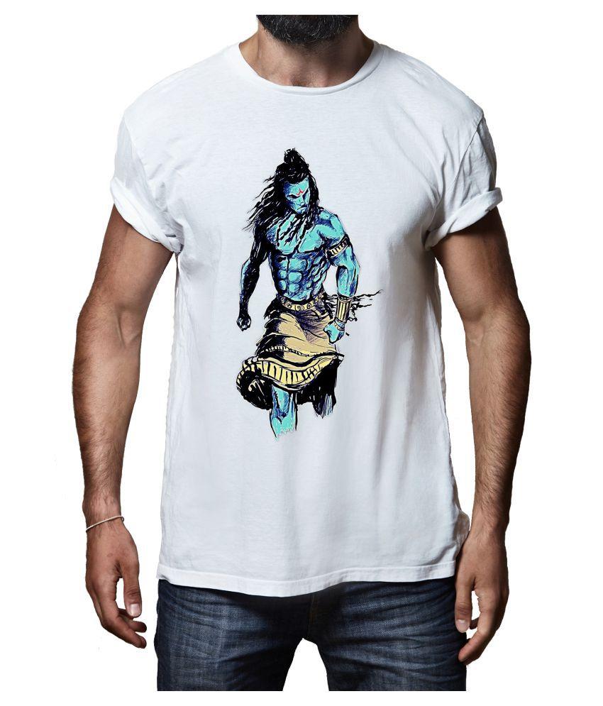 Rappersshop White Round T-Shirt