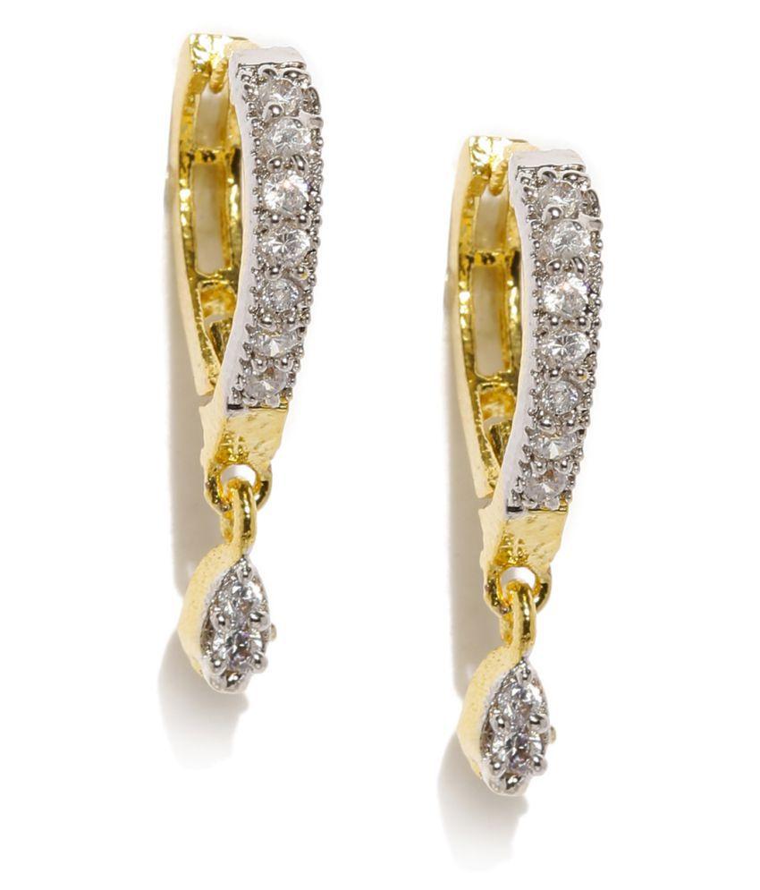 Zaveri Pearls Delicate Cubic Zirconia Drop Earring - ZPFK6237